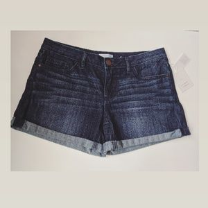 NWT Lauren Conrad Rolled Cuff Denim Shorts